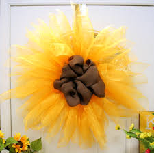 sunflower mesh wreath sunflower mesh wreath s