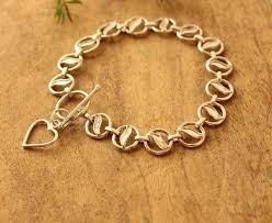 handmade silver charm bracelet images Designer sterling silver handmade heart charm bracelet at 3550 jpg