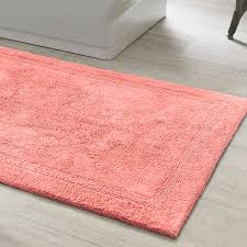 signature coral bath rug bath rugs coastal and bath