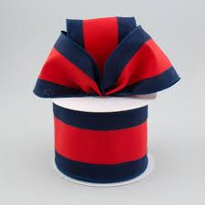 navy and white striped ribbon 2 5 satin team stripe ribbon navy blue 10 yards 340 4 12