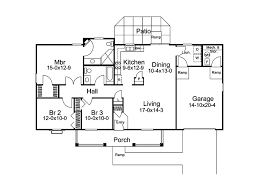 Three Bedroom Ranch Floor Plans Basic Bedroom Ranch House Plans Briarview Arts Crafts Home Plan