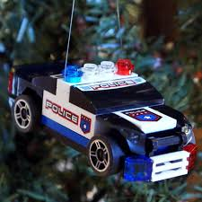 lego police car christmas ornament cars lego and christmas ornament