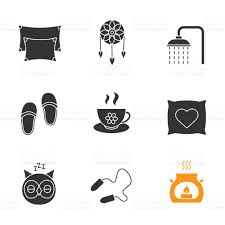 sleeping accessories sleeping accessories icons stock vector art 859108746 istock