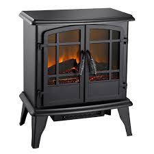 pleasant hearth 400 sq ft 20 in electric stove in matte black