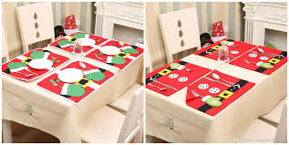 Christmas Decorations At Home Christmas Stockings Placemats Knife And Fork Mat Christmas
