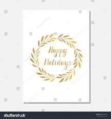 gold vector christmas greeting cards hand stock vector 486653368
