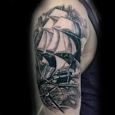 100 nautical tattoos for men slick seafaring design ideas
