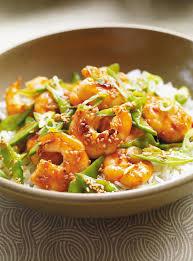 cuisine crevette sauté de crevettes au sésame ricardo