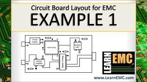 general pcb design layout guidelines circuit board layout for emc exle 1 youtube