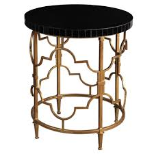 Quatrefoil Side Table Quatrefoil Side Table Gold Black Scenario Home