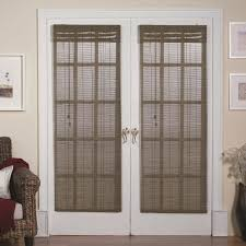 interesting white wooden french door window treatments with gray curtain jpg