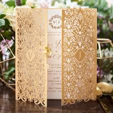 wedding invitation designs golden invitation imperial design gatefold gold pearl
