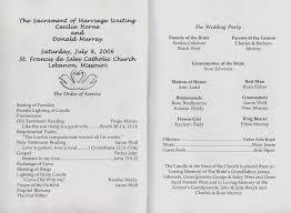 catholic wedding program template catholic wedding program lovely free printable wedding programs