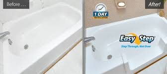 Easy Step Bathtub Refinished Bathtubs Countertops Resurfaced Tile Reglazing