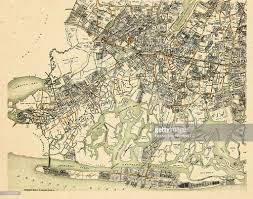 Long Beach Map New York 1927 Plate Lynbrook Jamaica Bay Inwood Rockaway Inlet