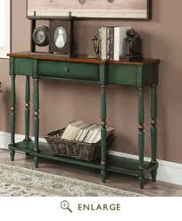 Green Console Table Two Tone Antique Console Table In Oak Veneer Antique Green