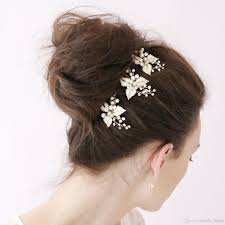 cheap hair accessories enamel leaf tiaras bobby pin bridal hair accessories pins