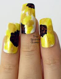 sunshine sunflowers u2013 nail art a sparkly life for me