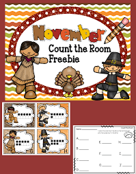 freebie thanksgiving count the room activity this thanksgiving