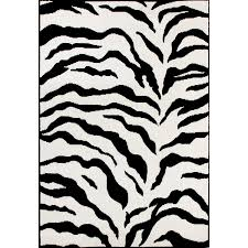 Black And White Zebra Bedrooms Amazon Com Zebra Animal Skin Print Modern Carpet Black Area Rug