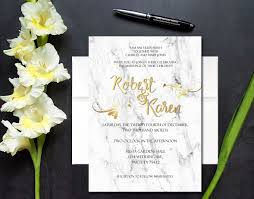 White And Gold Wedding Invitation Cards White Marble Gold Foil Look Wedding Invitation U2022 You U0027re Invited