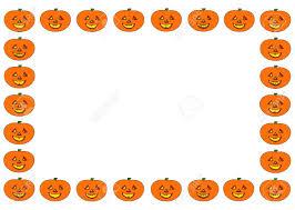 happy halloween halloween frame of the smiling pumpkin men stock