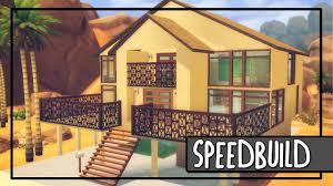 Coastal House The Sims 4 Coastal House Building Timelapse Youtube