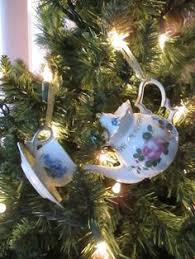oak rise cottage teapot teacup ornaments tea themed trees