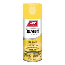 ace 12oz gloss sunshine yellow premium enamel spray paint spray