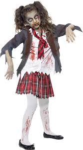 scary costumes for kids smiffys children s school girl costume tartan skirt