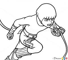 draw rock lee naruto