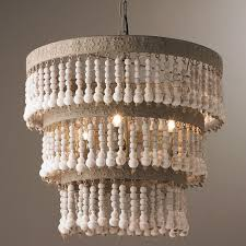 Farm Chandelier Chandelier Beaded Vintage Wood Editonline Us