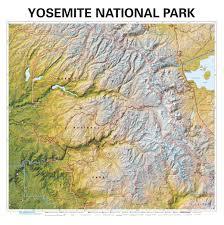 Yosemite Park Map Yosemite National Park Wall Map Maps Com