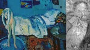 la chambre bleue picasso un tableau de picasso découvert sous un autre picasso