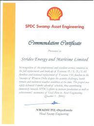 strides energy u0026 maritime ltd certifications u0026 awards