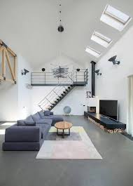 Interior Design High Ceiling Living Room Contemporary Home Design In Kiev By Tseh Architectural Group Has