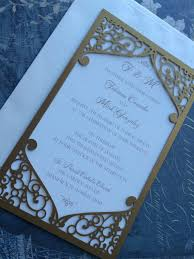 wedding invitations miami laser cut wedding invitation pocket swirl frame
