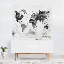 Map Tapestry World Map Wall Hanging World Map Tapestry World Map Wall