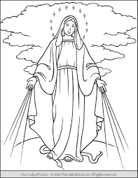 our lady of grace coloring page mary mary coloring pages