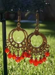 Red Chandelier Earrings Red Chandelier Earrings U2014 Silk Road Spirit