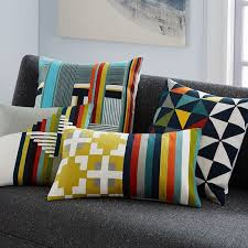 Loloi Pillows Dhurrie Style Pillow Wallace Sewell Blocks Stripes Crewel Pillow Cover West Elm