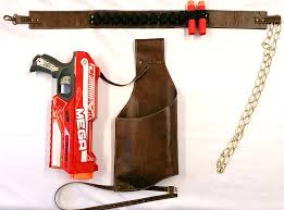 steampunk faux leather drop leg holster for nerf mega magnus