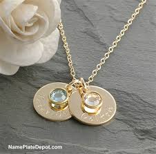 mothers necklace gold filled sted s necklace with birthstone