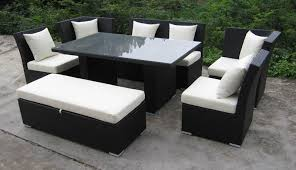 Table With Sofa Innovative Outdoor Dining Sofa Set Jamaican Outdoor Wicker Patio