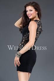 satin black spaghetti straps petite fitted homecoming dress