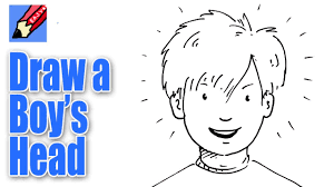 how to draw a boy u0027s face from the front real easy youtube