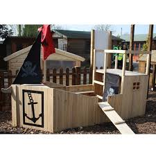 Pirate Ship Backyard Playset by Winchester Wooden Pirate Ship Garden Playhouse 4ft X 9ft