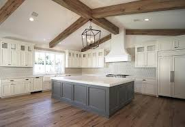Ivory Colored Kitchen Cabinets Ivory Cabinets With Grey Island Transitional Kitchen