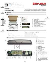 primetec user manual