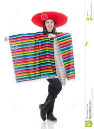pretty mexican in vivid pocho isolated on stock photo image